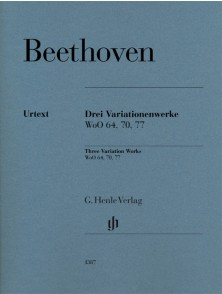 BEETHOVEN L.V. 3 OEUVRES A VARIATIONS PIANO