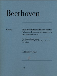 BEETHOVEN L.V. 5 SONATES CELEBRES PIANO