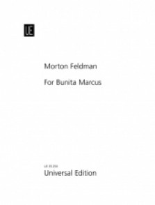FELDMAN M. FOR BUNITA MARCUS PIANO