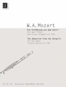 MOZART W.A. DUOS SUR L'ENLEVEMENT AU SERAIL FLUTES