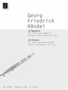 HAENDEL G.F. 18 MINUETS FLUTE