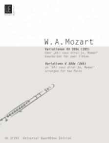 MOZART W.A. VARIATIONS ON AH! VOUS DIRAI-JE MAMAN FLUTES