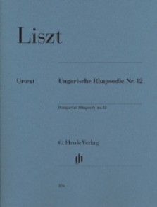 LISZT F. RHAPSODIE HONGROISE N°12 PIANO