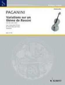 PAGANINI N. VARIATIONS SUR UN THEME DE ROSSINI VIOLONCELLE