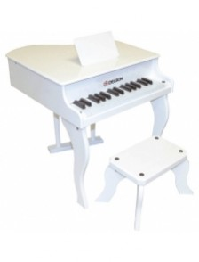 PIANO A QUEUE ENFANT BLANC