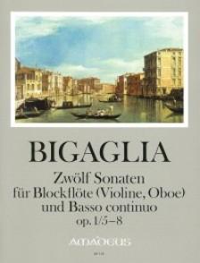 BIGAGLIA D. 12 SONATES OP 1 VOL 2 FLUTE A BEC