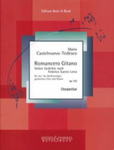 CASTELNUOVO-TEDESCO M. ROMANCERO GITANO OP 152 CHOEUR GUITARE