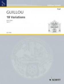 GUILLOU J. VARIATIONS OP 3 ORGUE