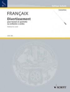 FRANCAIX J. DIVERTISSEMENT BASSON ET CORDES CONDUCTEUR