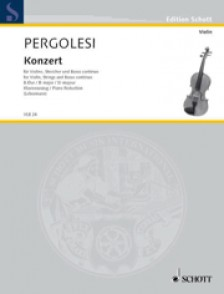 PERGOLESE G.B. CONCERTO Bb MAJOR VIOLON