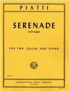 PIATTI A. SERENADE D MAJOR 2 VIOLONCELLES PIANO