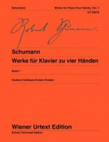 SCHUMANN R. WORKS FOR PIANO VOL 1 PIANO 4 MAINS