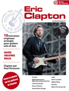 CLAPTON E. VOYAGE EN GUITARE TABLATURE