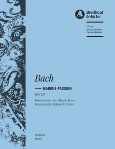BACH J.S. MARKUS-PASSION BWV 247 CHOEUR PIANO