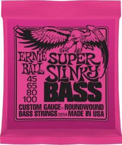 JEU DE CORDES BASSE ERNIE BALL 2834 SUPER SLINKY BASS 45-100