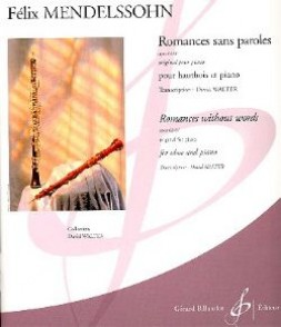 MENDELSSOHN F. ROMANCES SANS PAROLES OP 62/67 VOL 5 HAUTBOIS