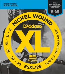 JEU DE CORDES D'ADDARIO ESXL125 FILE ROND DOUBLE BOULE 09/46