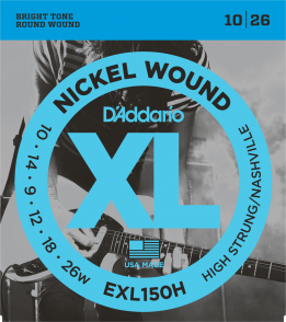 JEU DE CORDES D'ADDARIO EXL150H FILE ROND HIGH 10/26
