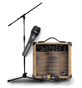 PACK CHANT COMPLET 10 WATTS : MICRO + CABLE + PIED DE MICRO + AMPLI STAGG 10AA