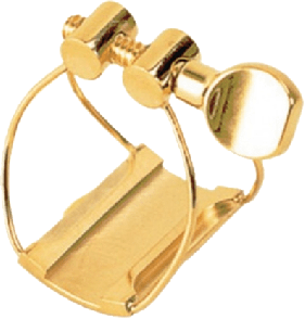 LIGATURE SAXOPHONE ALTO BRANCHER AMG AURIFIEE POUR BEC METAL