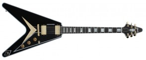 GIBSON FLYING V CUSTOM EBONY GOLD LIMITED EDITION
