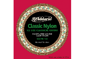 JEU DE CORDES CLASSIQUE D'ADDARIO EJ27N-1-2 NYLON CLASSICS