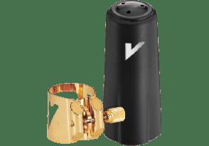 LIGATURE SAXOPHONE BARYTON VANDOREN OPTIMUM V16 AVEC COUVRE BEC PLASTIQUE