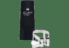 LIGATURE CLARINETTE MIB VANDOREN M/O ETAIN AVEC COUVRE BEC PLASTIQUE
