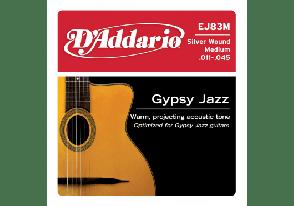 JEU DE CORDES ACOUSTIQUE D'ADDARIO EJM83M GYPSY JAZZ 11/45