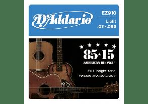 JEU DE ACOUSTIQUE BASSE D'ADDARIO EZ900 85/15 BRONZE 10/50