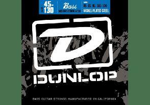 JEU DE CORDES BASSE DUNLOP STRINGS DBN45130 FILE ROND NICKEL 45/130