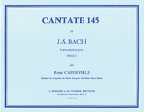 BACH J.S. CANTATE 145 ORGUE