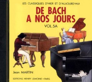DE BACH A NOS JOURS VOL 5A PIANO CD