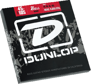 JEU DE CORDES BASSE DUNLOP STRINGS DBN45105 FILE ROND NICKEL 45/105