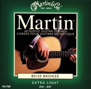PACK DE 12 JEUX DE CORDES ACOUSTIQUE MARTIN EXTRA LIGHT 10/47