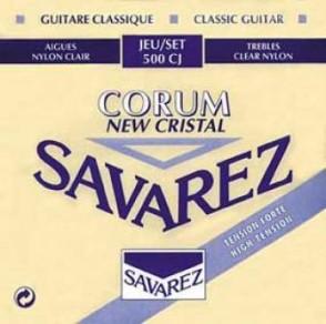 JEU DE CORDES GUITARE CLASSIQUE SAVAREZ 500 CJ  NEW CRISTAL CORUM