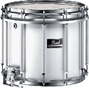 MARCHING BAND PEARL COMPETITOR 14X12 FREEFLOAT BLANC AC CHROME