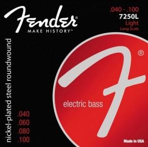 JEU DE CORDES BASSE ELECTRIQUE FENDER 7250L LIGHT LONG SCALE 040/100