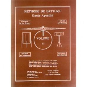 AGOSTINI DANTE METHODE DE BATTERIE VOL 3