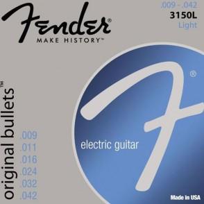 JEU DE CORDES GUITARE FENDER ORIGINAL BULLETS 3150L LIGHT 09/42