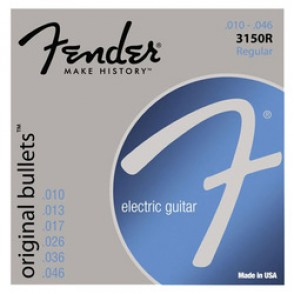 JEU DE CORDES GUITARE FENDER ORIGINAL BULLETS 3150R REGULAR 010/046