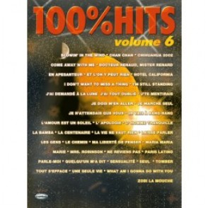 100% HITS VOLUME 6 PIANO CHANT GUITARE