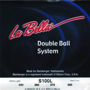 JEU DE CORDES BASSE LABELLA S100S DOUBLE BALL SYSTEM 45-105