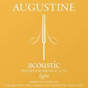 JEU DE CORDES ACOUSTIQUE AUGUSTINE PB 12-53 LIGHT PHOSPHORE BRONZE