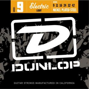 JEU DE CORDES ELECTRIQUE DUNLOP STRINGS DEN0942 FILE ROND NICKEL 9/42