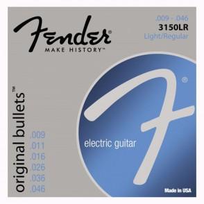 JEU DE CORDES GUITARE FENDER ORIGINAL BULLETS 3150LR LIGHT/REGULAR 09/46