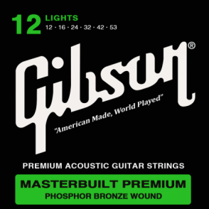 JEU DE CORDES ACOUSTIQUE GIBSON SAG-MB12 12/53 MASTERBUILT PREMIUM LIGHT