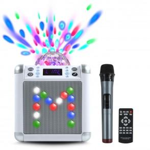 Enceinte Bluetooth karaoké Dansing Box Blanc