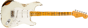FENDER CUSTOM SHOP 1955 STRATOCASTER HEAVY RELIC TIME MACHINE DESERT TAN OVER CHOCOLATE 2-COLOR SUNBURST MAPLE