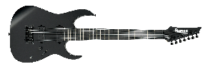 IBANEZ RGIXL7-BKF BLACK FLAT 7 CORDES